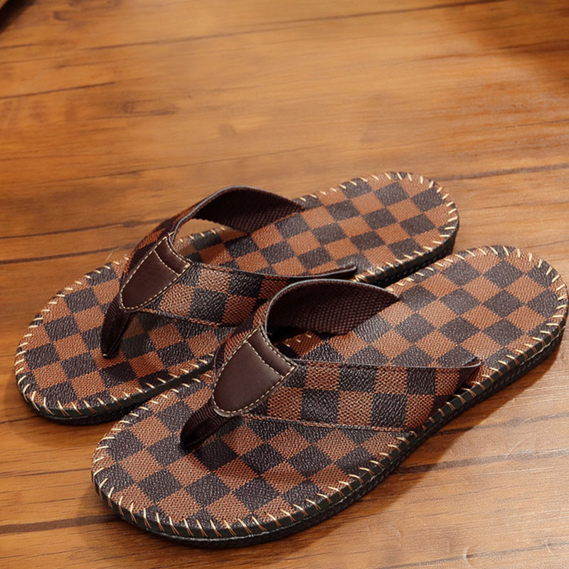 2019 Summer New Slippers Comfortable Non-slip Beach Flip Flip Flops Casual Clip Buckle Sandals And Slippers Men's Lazy Shoes(China)
