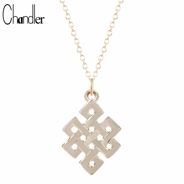 Chandler Chinese Endless Knot Pendant Necklace Buddhist Infinity