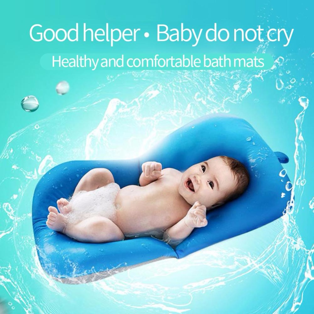 Newborn Baby Bathtub Pillow Toddler Infant Soft Seat Pad Tub Bath ...