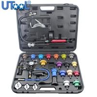 27pcs Universal Radiator Pressure Tester Kit Vacuum Type Coolling System Kit Coolant Purge/Refill Kit Aluminum More Durable