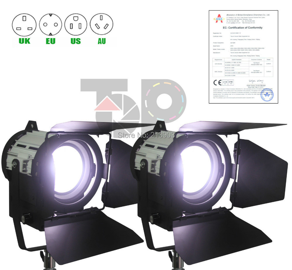 New! Pro As arri 2PCS 50W LED Studio Fresnel spot Light Video CE Certification цены онлайн