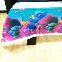 108cm*180cm Trolls Party Supplies Tablecloth Favors Kids Boy Birthday Festival Decoration Themes