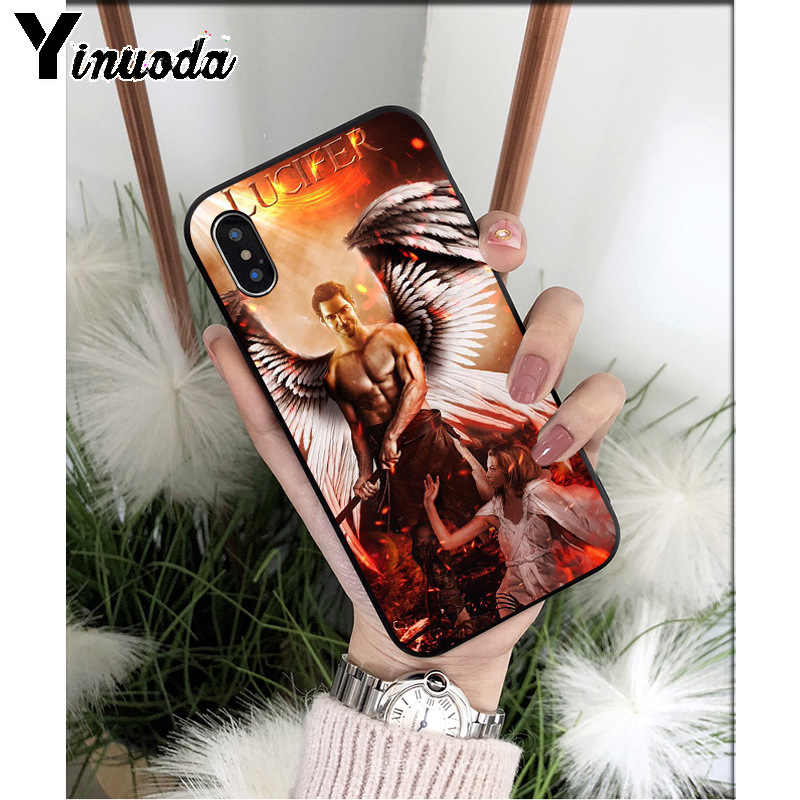Yinuoda Phim TRUYỀN HÌNH Mỹ Lucifer TPU Mềm Mại Phụ Kiện Điện Thoại Ốp Lưng điện thoại Iphone 6 6S 6 Plus 7 7 Plus 8 8Plus X XS MAX 5 5S XR