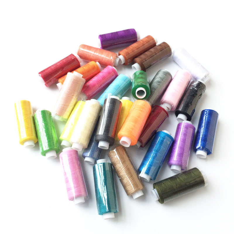 Top quality 30pcs colorful 250 yards machine embroidery for Sewing and craft supplies