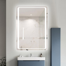 Hotel Custom Touch Bluetooth Bathroom LED Mirror Smart Anti fog Wall Vanity mirrorl For Home 2 Colors Light espejo pared tocador