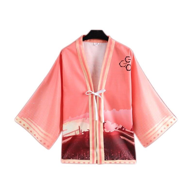 Anime Gun Gale Online Kohiruimaki Karen Haori Cloak Cosplay Costume Sword Art Online Llenn Kimono Japanese Yukata