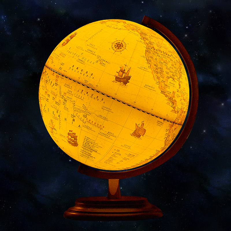 9inch antique globe table lamp desktop decor study teaching earth 9inch antique globe table lamp desktop decor study teaching earth globe world map light kids room lamp geography gifts wood base in table lamps from lights gumiabroncs Images