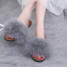 Новые модные Вьетнамки; летние женские шлепанцы с перьями; пляжные сандалии