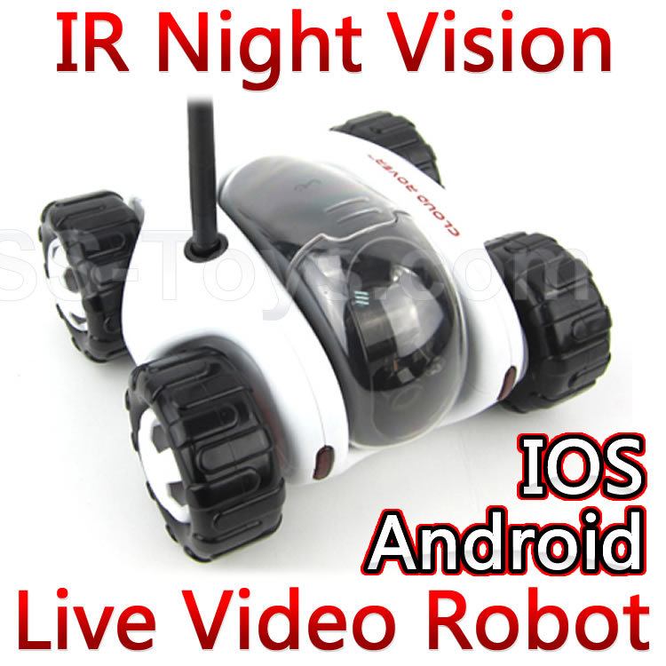 RC Spy Car with ip Camera Wifi Home security alarm security system Cloud Rover Phone Wireless Remote Control Tank Robot FSWB