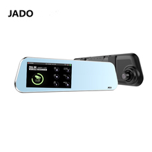 JADO 4.5 'Сенсорный экран Автомобильный видеорегистратор Full HD 1296 P автомобиля Камера зеркало заднего вида с Двойной объектив видео Регистраторы Автомобильные видеорегистраторы
