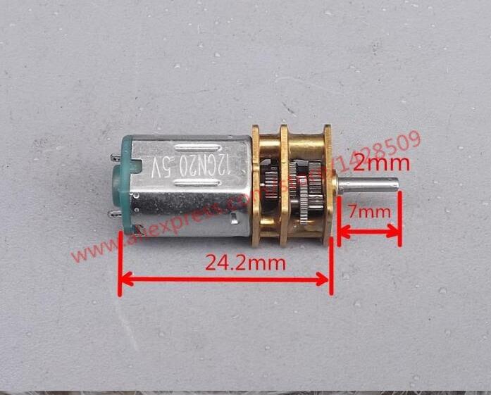 N20 hight quanlity mini metal Micro DC-motor gear motor change speed gear box and reduction gearbox n20 dc12v 300rpm mini metal gear motor electric gear box motor