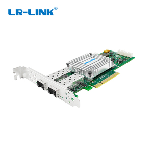 Image 1 - LR LINK 1002PF 2SFP+ 10Gb fiber optic ethernet network adapter PCI Express network card lan card Nic Domestic Chip