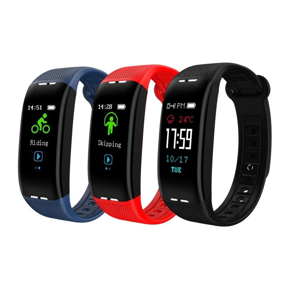 X1 Smart Bracelet Color IPS Screen Heart Rate Monitor Blood Pressure Fitness Tracker Waterproof Bluetooth Sport Watch Black