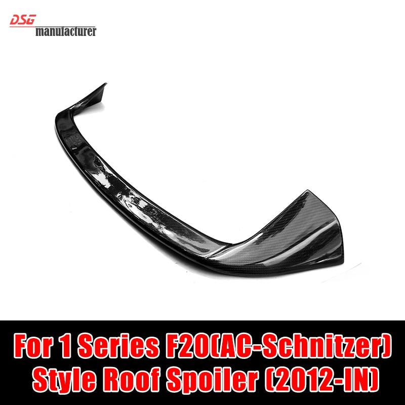 AC Schnitzer Style 1 Series F20 Carbon Fiber Roof Spoiler for BMW F20 2-Door F21 Hatchback 116i 118i 120i 125i 135i Gloss Black гарнитура qcyber roof black red звук 7 1 2 2m usb