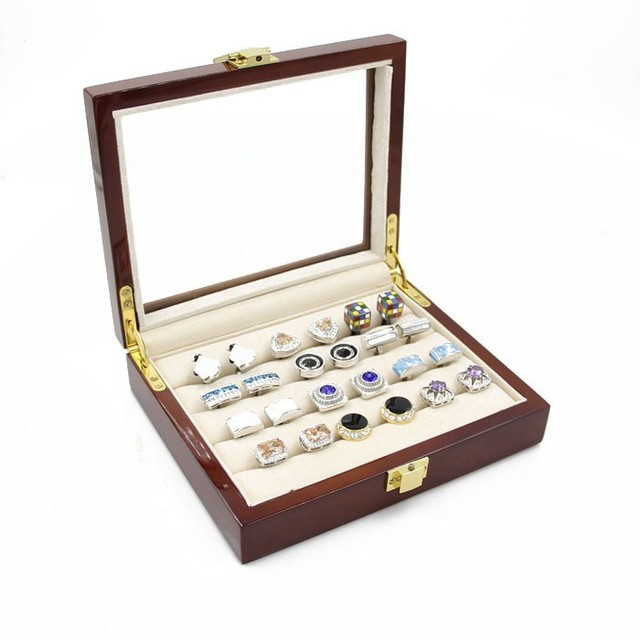 Storage Gift Box Display Case for Cufflinks & Tie Clips