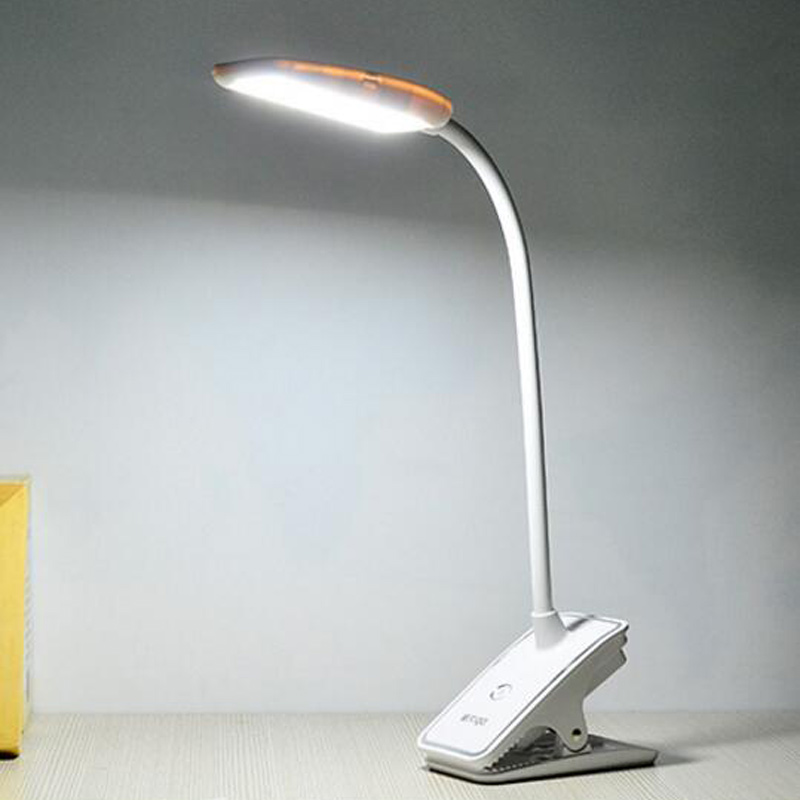 Morden 9 LED USB Smart Touch Dimming Book Reading Lighting 3000MAH Table Light Desk Lamp Clip Gooseneck For Laptop LED-1028 tovin t01 03 smart led desk lamp for adult pink