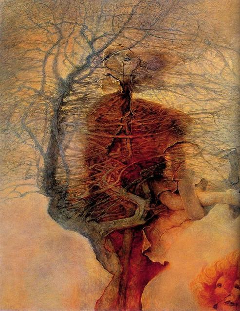 the fantastic art of zdzislaw beksinski art work poster print size ...