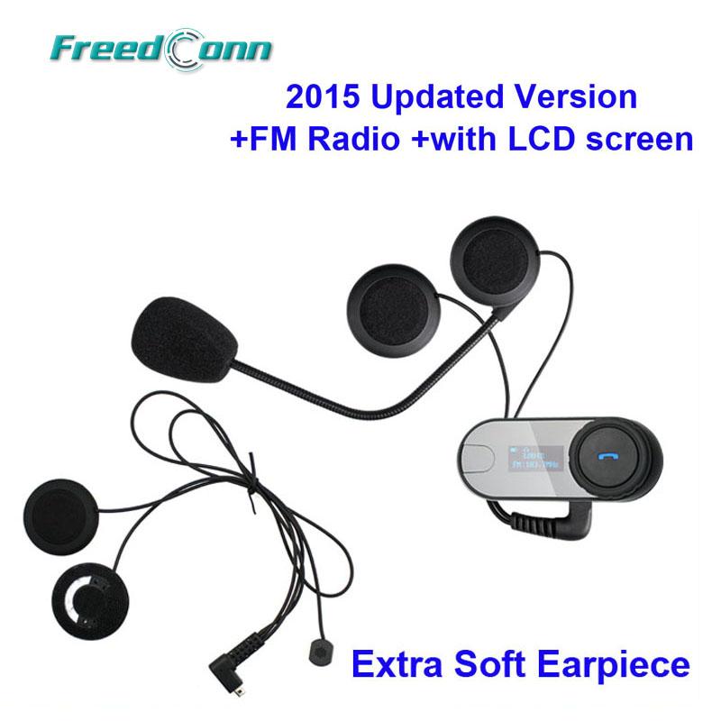 Prix pour Nouvelle Mise À Jour Version!! TCOM-SC W/Écran BT Bluetooth Moto Casque Interphone Casque avec FM Radio + Doux écouteur