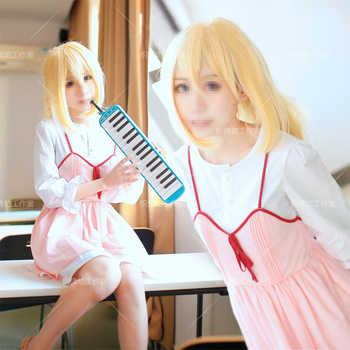 Anime Il Vostro Si Trovano nel Mese di Aprile Cosplay Shigatsu wa Kimi no Uso Kaori Miyazono Primo episodio Adulto Rosa Costume Cosplay ragazze