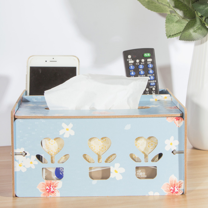Removable Tissue Roll Paper Wooden Box HomeCar Container Towel Napkin Log Holder