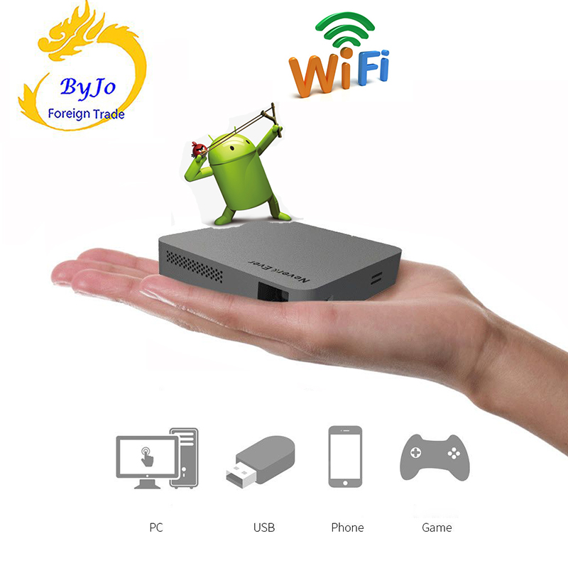 Original UNIC S6 Android 4.4 Mobile Projector S6 Mini Pocket Home Movie Projector Beamer Battery