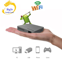 Original UNIC S6 Android 4 4 Mobile Projector S6 Mini Pocket Home Movie Projector Beamer Battery