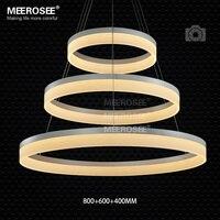 Wholesale High Quality LED Pendant Ring Light Modern LED Pendant Light Fixture White Acrylic Circle Suspension