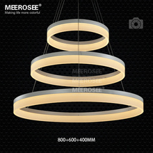 Wholesale High Quality LED Pendant Ring Light  Modern LED Pendant  Light Fixture White Acrylic Circle Suspension Lamp MD5060