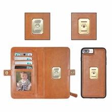 Здесь можно купить  Premium PU leather bag for iphone 8 plus/6s/6/X full cover shell Detachable Folio magnetic Card Holder for iphone 7 case wallet