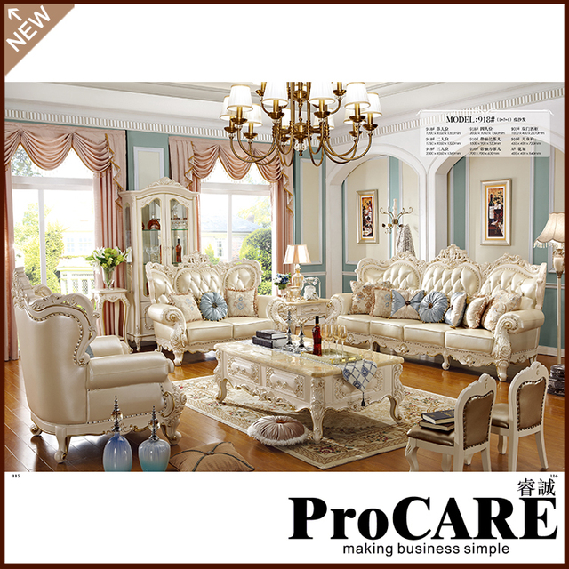 European Style Furniture Royal Clic Wedding Sofa For Living Room 1 2 3