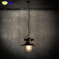 Фумат Лофт Промышленные Склад цепи подвесной светильник клетка Лампы для мотоциклов Винтаж Освещение для ресторана barhome декор черный Тенты