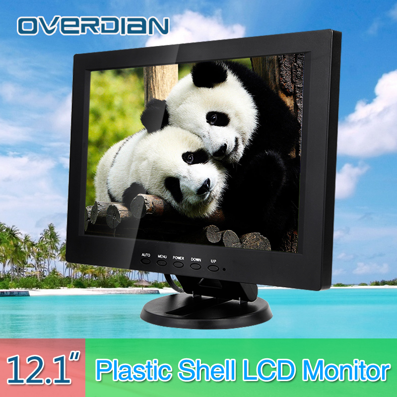 12.1 VGA/HDMI/TV/AV Connector Monitor 1280*800 Song Machine Cash Register Square Screen Monitor/Display Non-touch IPS Screen