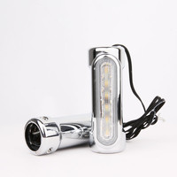 Chrome For Crash Bars Harley Davidson Touring Bikes Motorcycle Highway Bar Switchback Driving Light White turn Amber