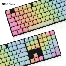 Rainbow keycaps pbt top front side blank printed cherry mx keycaps for mechanical keyboard104 87 60OEM