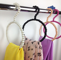 Pearl silk & scarf hangers white pink black abs pearl hangers seamless plastic hangers for laundry&home 5pcs/lot free shipping