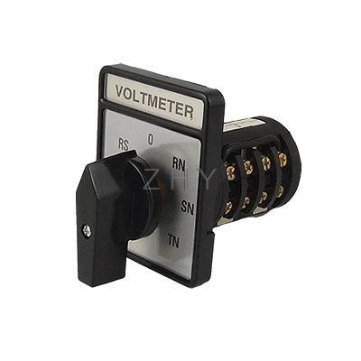 3 phase selector switch wiring voltmeter 3 phase 4 wire cam rotary selector switch-in ...