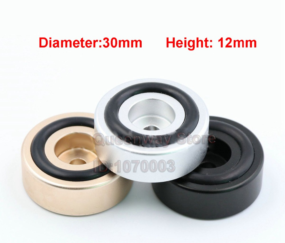 8pcs 20*10mm Mini Solid Aluminum Speaker Cabinet Isolation Feet Dac Cd Turntable Amp Pad Floor Stand Base Golden Anodized Non-Ironing Consumer Electronics