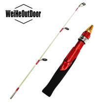2 Sections Ice Fishing Rod Lightweight Winter Fishing Rod 50cm Mini Ice Feeder Fishing Pole Peche Shrimp vara de Pesca