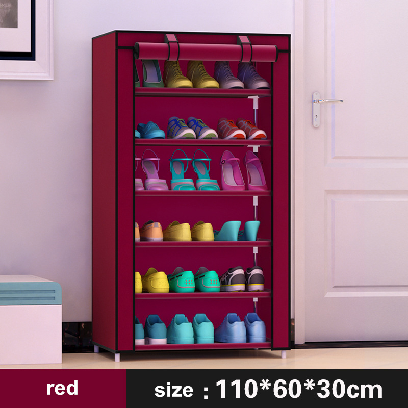 Shoe cabinet 7-layer 6-grid Non-woven fabrics large shoe rack organizer removable shoe storage for home furniture 7 layer 6 grid shoe cabinet non woven fabrics shoe rack organizer removable shoe storage for home living room furniture