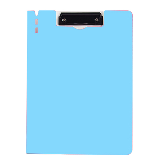 A4 Clipboard Foolscap Fold-Over Office Document Holder Filing Clip Board, Blue Quantity:5