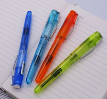 цена Upgraded Transparent Wingsung 3010 Fountain Pen E/F 0.38/0.5mm Ink Pen Wing Sung Silver Clip 4 Colors Optional for Office School онлайн в 2017 году