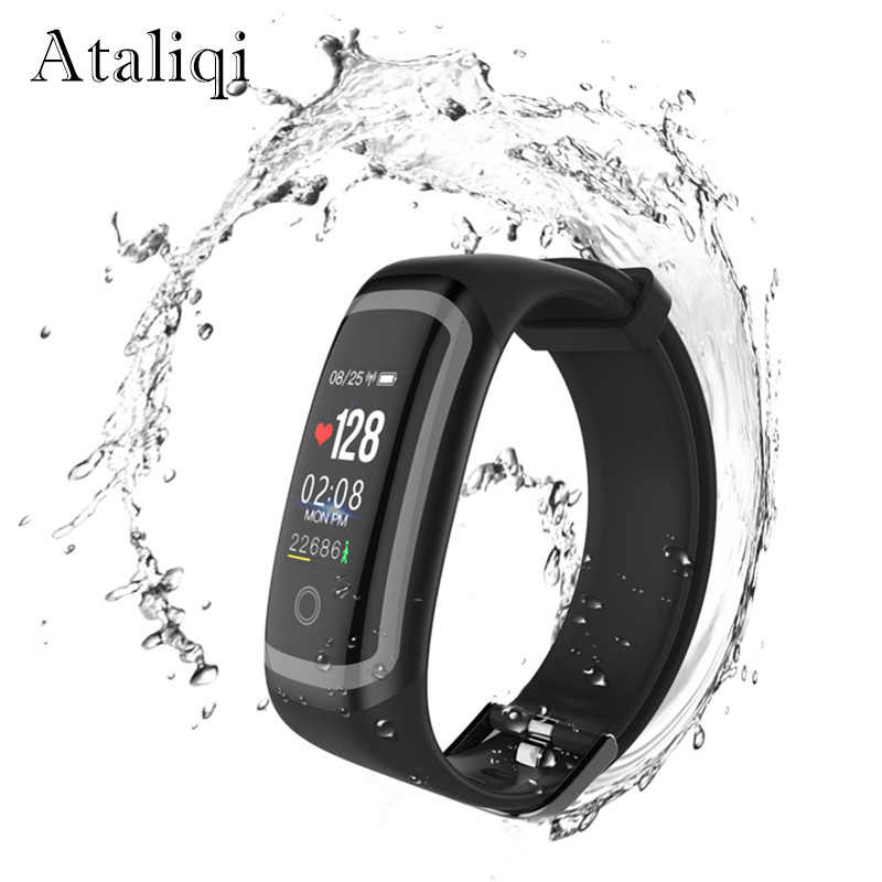 Ataliqi M4 Swimming Smart Bracelet Heart Rate Monitor Activity Fitness Tracker Smart Band Push Message Watch for Xiaomi honor