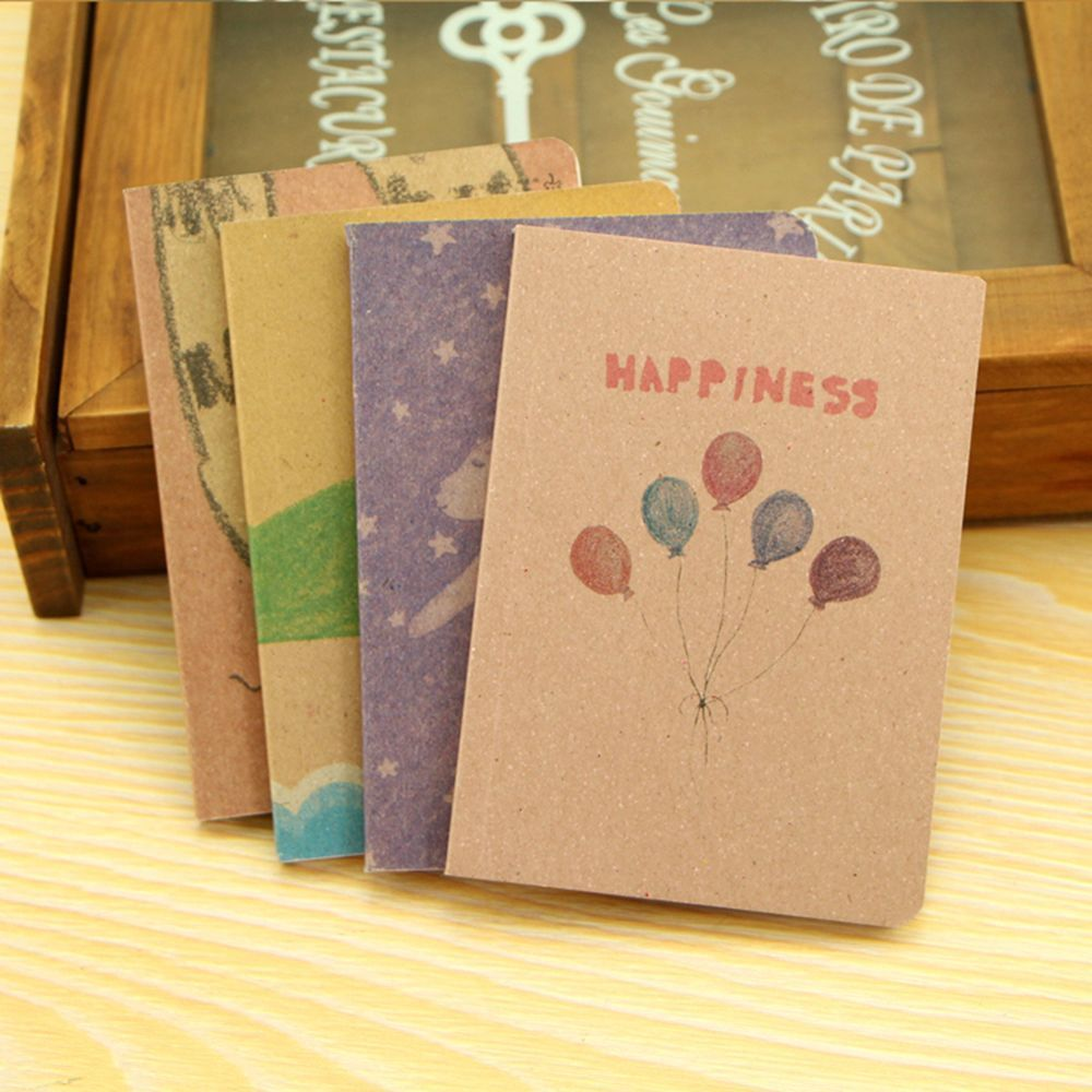 Retro Journal Memo Notebook Paper Notepad Leaf Charm Blank Travel Diary Notepad