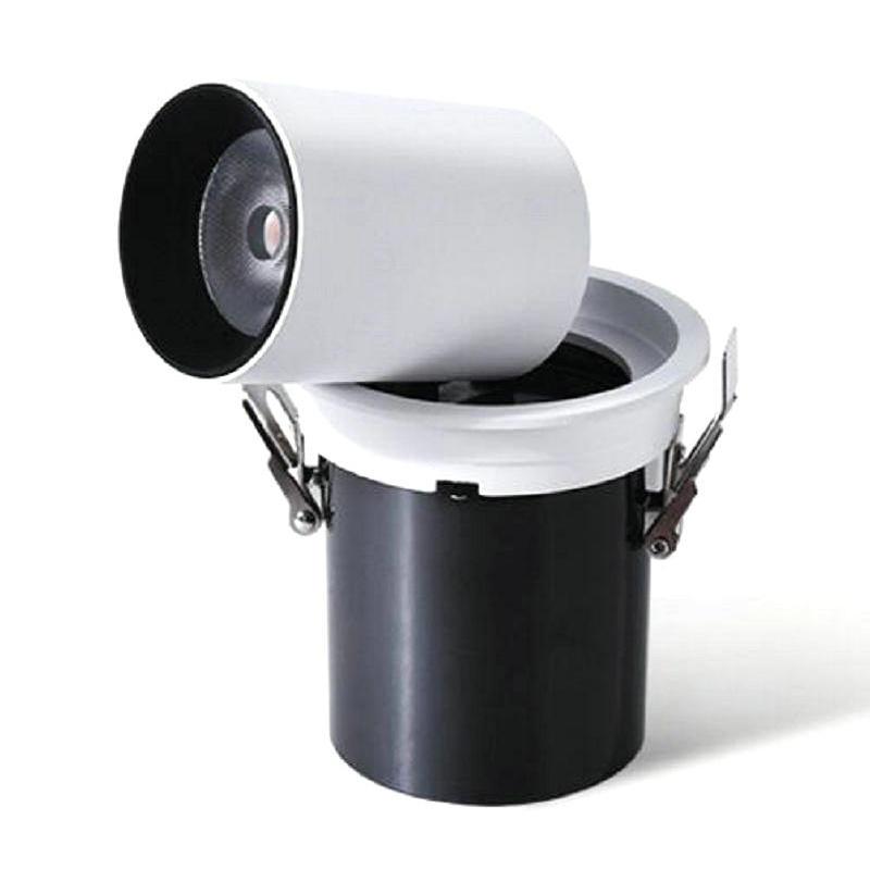 adjustable square round 15W COB LED DownLight Dimmable AC110V AC220V AC240V LED Spot Recessed Downlight White house
