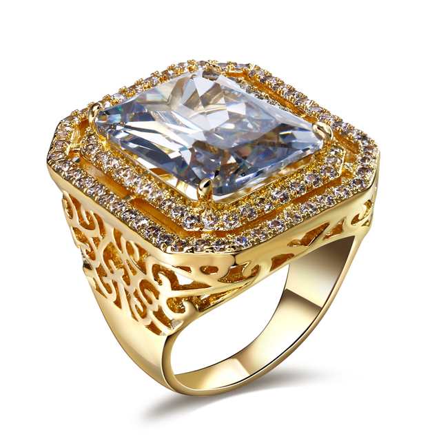Aliexpress Buy New Engagement ring Made with simulated cubic