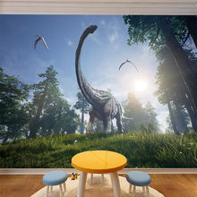 Dinosaur Wall Stickers Decals for kids rooms Art  Baby Nursery Room Kids Cartoon Poster christmas gift Home Decoration