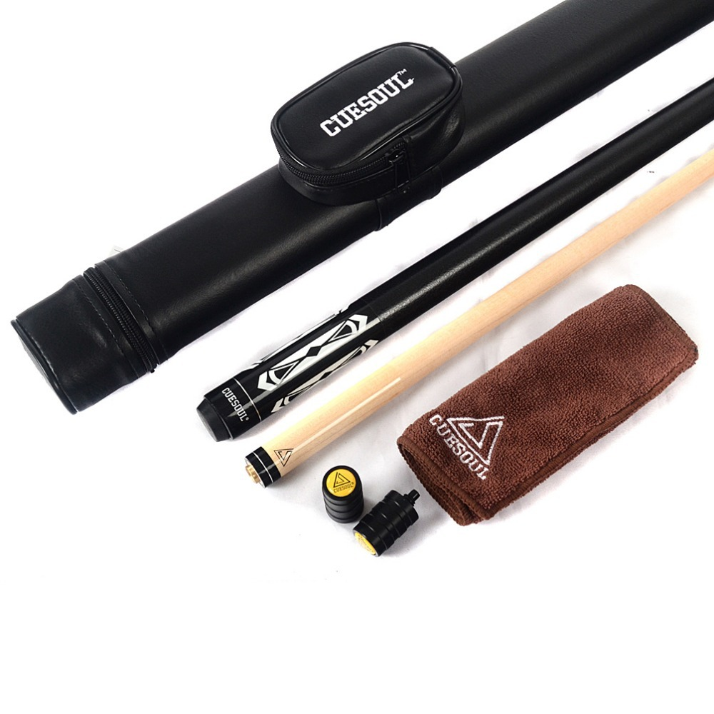 CUESOUL Special Price Pool Cue Stick with Black Cue Case& Clean Towel & Cue ProtectorCUESOUL Special Price Pool Cue Stick with Black Cue Case& Clean Towel & Cue Protector