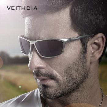 VEITHDIA okulary aluminiowe męskie spolaryzowane soczewki UV400 okulary sportowe akcesoria męskie okulary przeciwsłoneczne gafas de sol Dropshipping tanie i dobre opinie CN (pochodzenie) Rectangle Dla dorosłych Aluminium Magnezu Lustro Antyrefleksyjną 4 0 cm Z poliwęglanu 6520 6 3 cm
