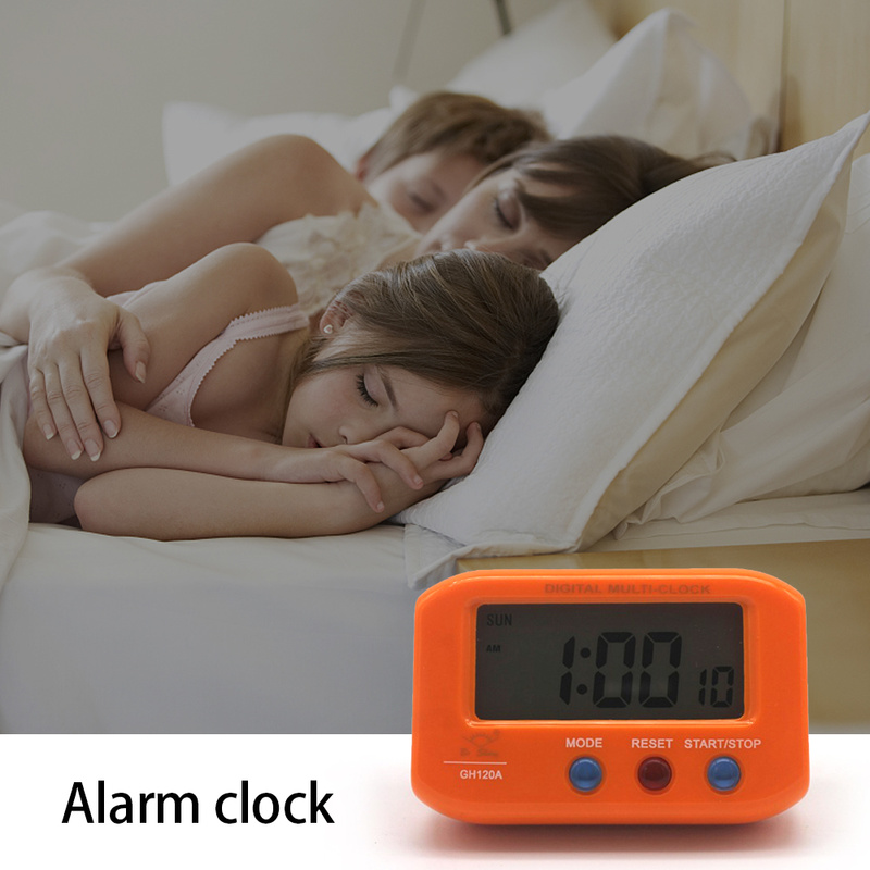 NEW Mini Digital Backlight LED Display Table Alarm Clock Snooze Calendar Portable Electronic Clock with Luminous Student Travel