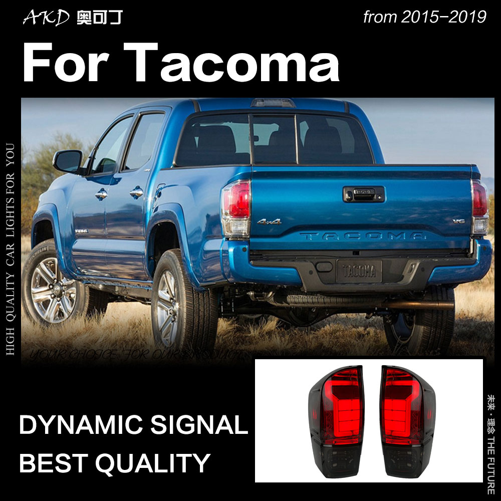 AKD Car Styling for Toyota Tacoma Tail Lights 2015 2019 Tacoma LED Tail Lamp DRL Brake